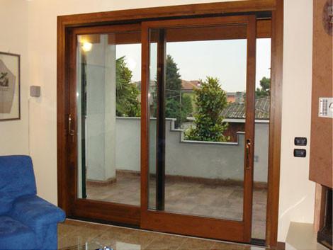 Infissi - Finestre in alluminio color legno ...